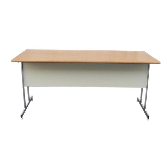 Hon Modern Minimalist Metal Desk For Sale