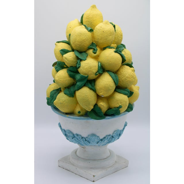 Tall Vintage French Lemon Topiary Basket / Centerpiece For Sale - Image 4 of 11