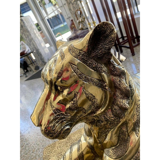 Metal Mid-Century Sculpture Bengal Tiger For Sale - Image 7 of 13