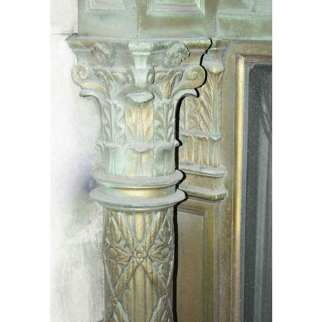 Gold Ornate Bronze Palladian Window Transom For Sale - Image 8 of 10