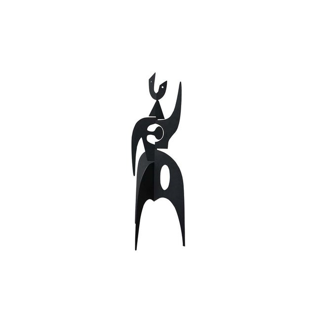 Black Vintage Iron Sculpture Signed by French Artist Antonine De Saint Pierre For Sale - Image 8 of 8