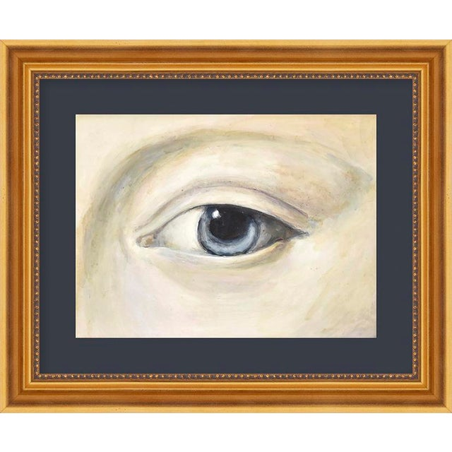 "Contemporary Small ""Lover's Eye 4 With Navy"" Print by Susannah Carson, 12"" X 10"" For Sale - Image 3 of 3"