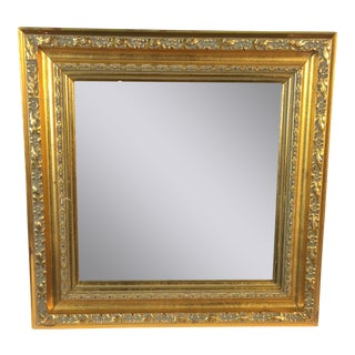 Contemporary Small Gold Framed Mirror