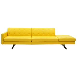Yellow Leather Sofa by Jean-Marie Massaud for Poltrona Frau One Arm, Beautiful For Sale