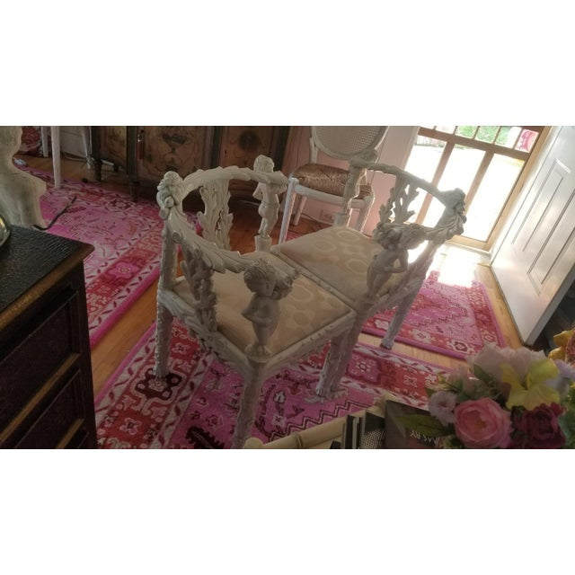 19th Century Style Fois Bois Carved Chairs For Sale In New York - Image 6 of 9