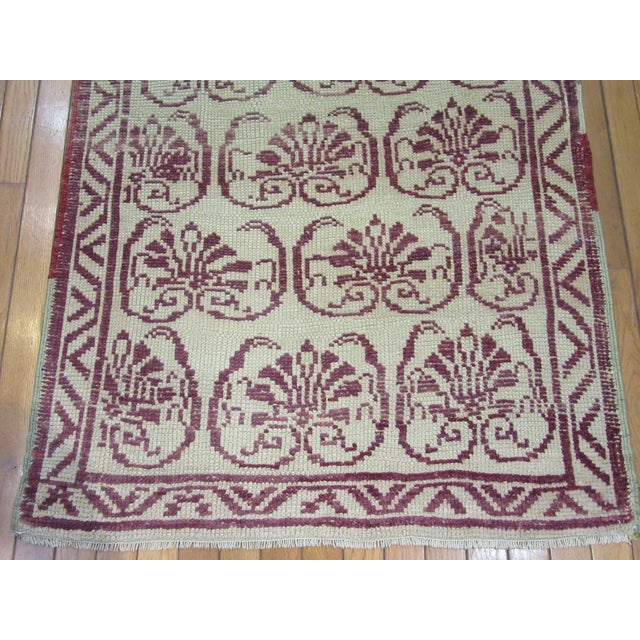 Transitional Vintage Handmade Wool Turkish Anatolian Rug For Sale - Image 3 of 7