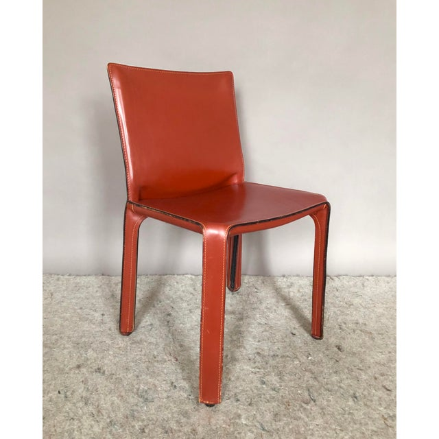 Contemporary Cab Dining Chairs by Mario Bellini for Cassina - Set of 4 For Sale - Image 3 of 7