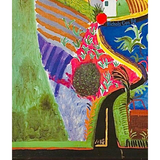 2000 - 2009 2001 Original David Hockney Nichols Canyon Exhibition Poster Denmark For Sale - Image 5 of 7