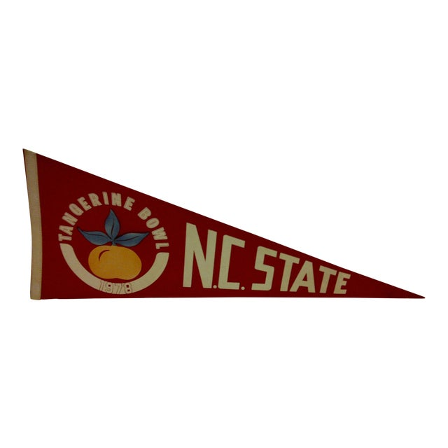"Vintage 1978 NCAA ""NC State"" Pennant Flag For Sale"