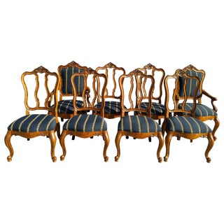 Ethan Allen Tuscany Augustine Dining Chairs - Set of 8 For Sale