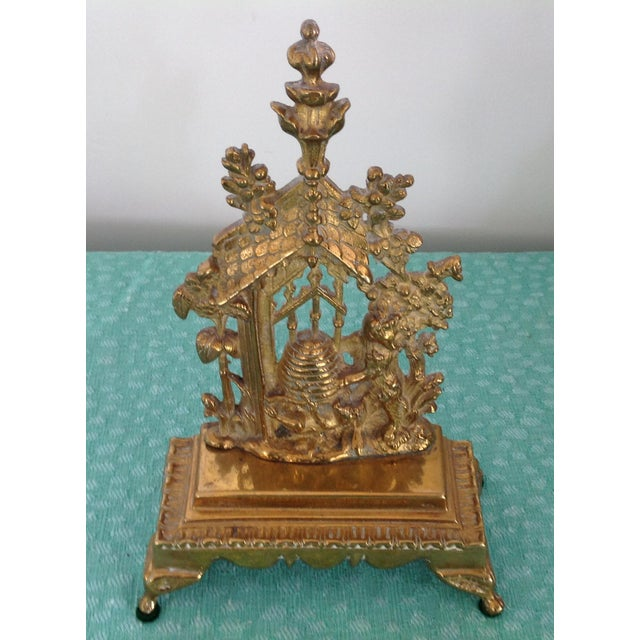 English Antique English Solid Brass Mantel Decoration For Sale - Image 3 of 5