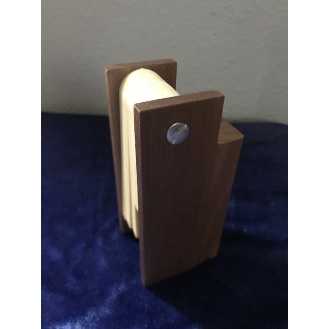 Wood Mid Century Modern Perpetual Desk Calendar For Sale - Image 7 of 9