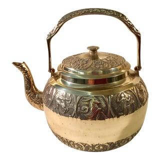 Vintage Zodiac Brass Tea Kettle