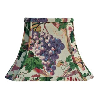 Floral Celadon Green Lee Jofa Fabric Lampshade For Sale