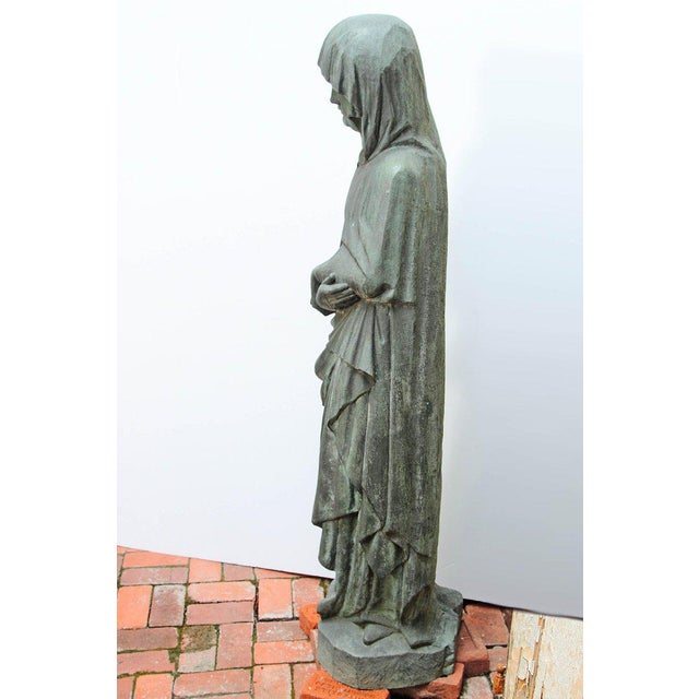 Metal Bronze Female Statue For Sale - Image 7 of 13
