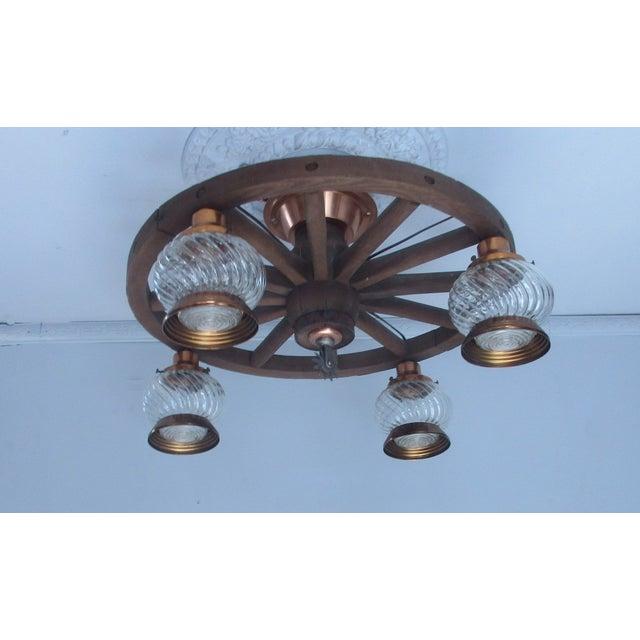 Wagon Wheel Country Western Chandelier - Image 3 of 7