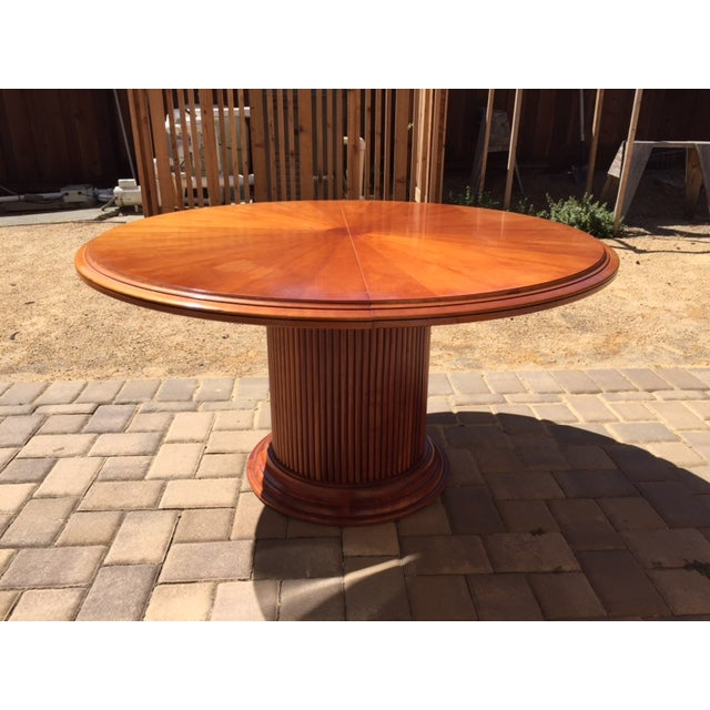 "This beautiful piece is actually called a ""Consulat Round Reception Table with Pedestal."" I bought at the Grange furniture..."