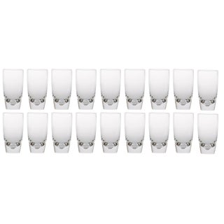 Medium Steuben Crystal Highball Glasses Attributed to Joel Smith - Set of 18 For Sale