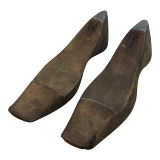 Antique Wooden Shoe Molds - A Pair
