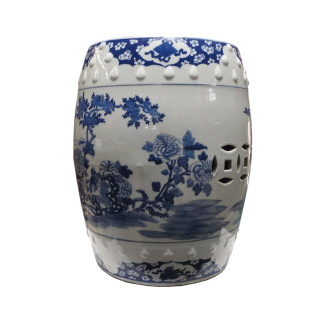 Chinese Porcelain Round Graphic Stool - Image 3 of 4