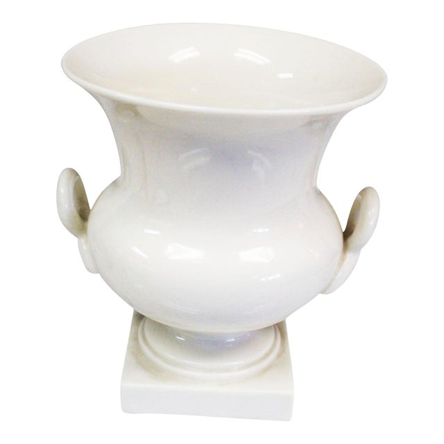 Lenox Traditional White Urn For Sale