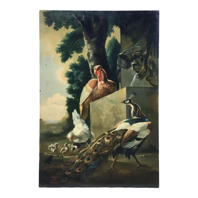 Pheasants in the English Countryside Painting on Canvas For Sale