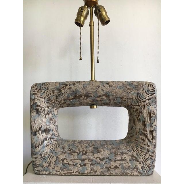 Blue Rita Sargen Mid-Century Modern Ceramic Lamp For Sale - Image 8 of 13