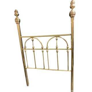 19th Century Hollywood Regency Brass Headboard Twin Bed For Sale