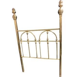 19th Century Hollywood Regency Brass Headboard Twin Bed For Sale