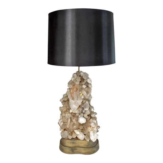 Carole Stupell Quartz Rock Crystal Lamp For Sale