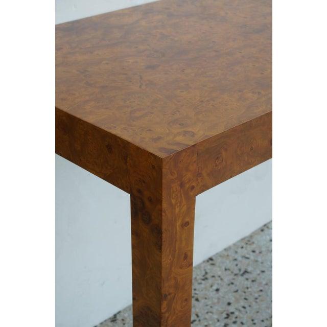 Mid-Century Modern Milo Baughman Burlwood Console Table For Sale - Image 9 of 10