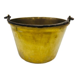 Antique Brass & Iron Pot For Sale