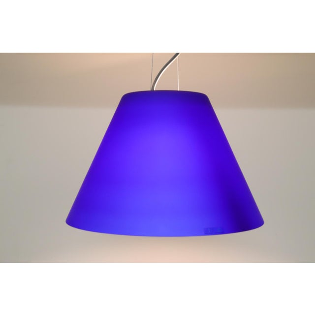 Itre Vintage Mid-Century Modern Murano Glass Pendant Lamp For Sale - Image 4 of 8