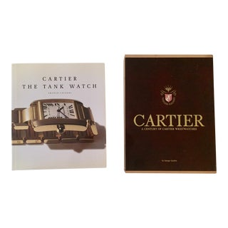Cartier Watches Books - a Pair For Sale