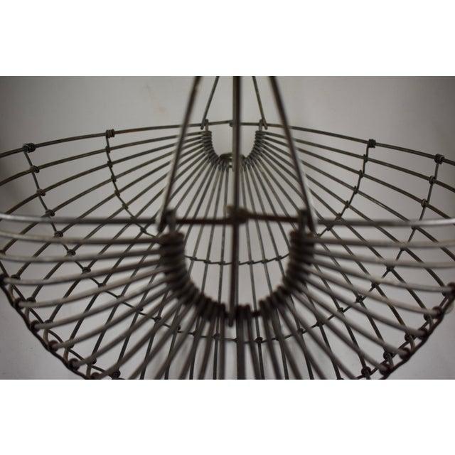 1970s Karl Howard Galvanized Steel Handmade Art Basket, Signed For Sale - Image 12 of 13