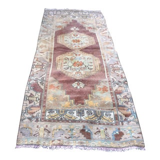 "1960s Vintage Turkish Pastel Runner-3'x8'2"" For Sale"
