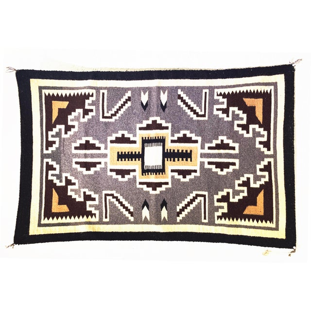Contemporary Vintage Navajo Two Grey Hills Rug-2'4'x3'9 For Sale - Image 3 of 12