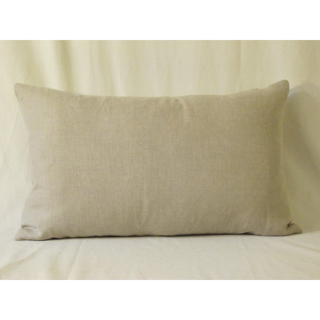 A pillow made from a n authentic Fortuny fabric, the pillow is backed and edged with natural Belgian linen and it is...