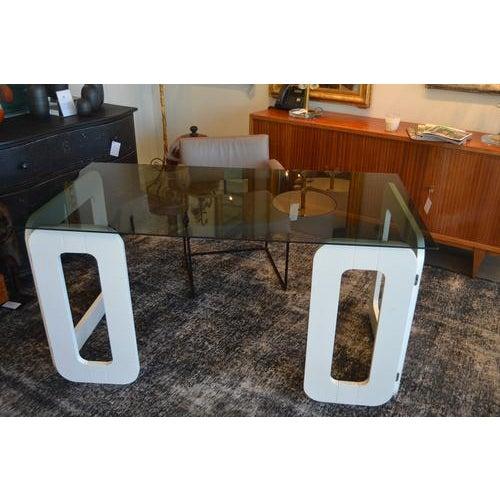 White White Vintage Desk From France, C.1970 For Sale - Image 8 of 9