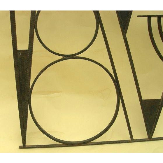 Art Deco Hammered Iron Screen - Image 6 of 7