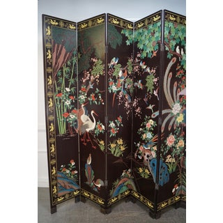 Chinese Monumental Coromandel Lacquer 12 Panel Folding Screen Preview