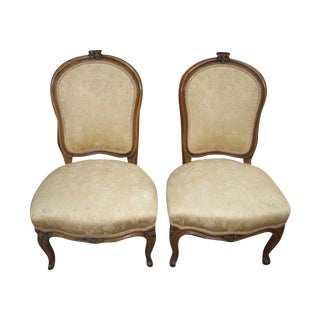 French Provincial Slipper Chairs c.1920's - Pair