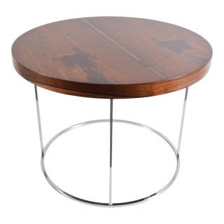 Milo Baughman Rosewood and Chrome Lamp Table For Sale