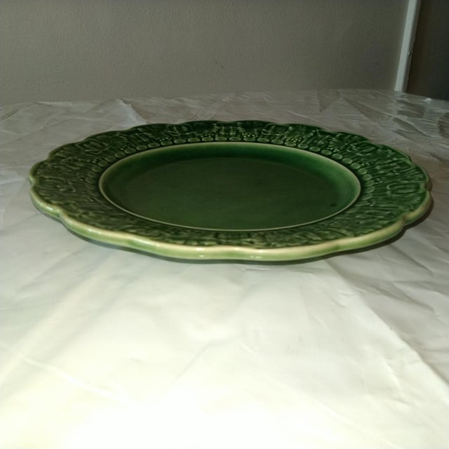 Late 20th Century 20th Century Cottage Portuguese Ceramic Plate For Sale - Image 5 of 6