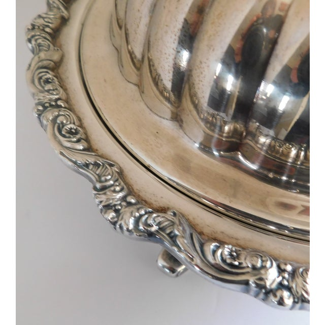 Poole Silver Co. Heavy Silverplate Casserole Dish For Sale - Image 9 of 12