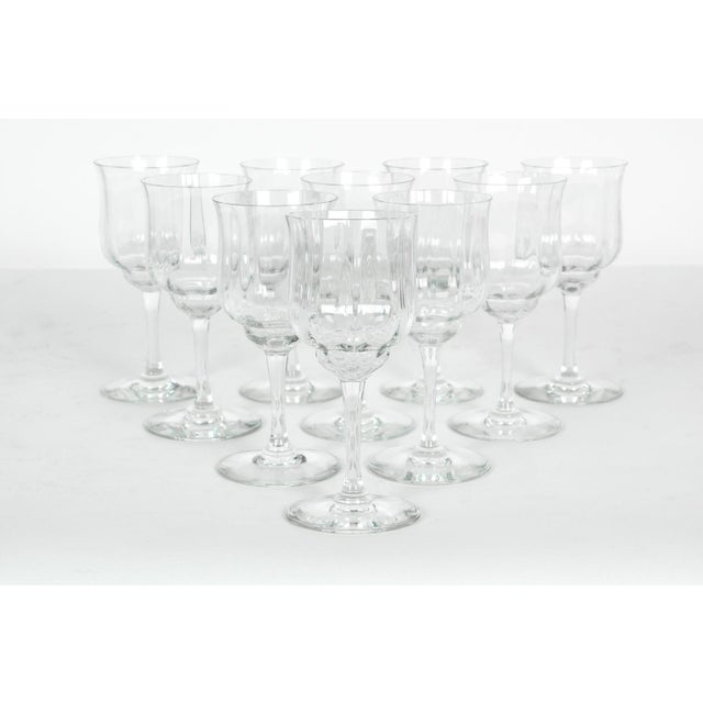Contemporary Vintage Baccarat Crystal Wine Glassware - Set of 10 For Sale - Image 3 of 6