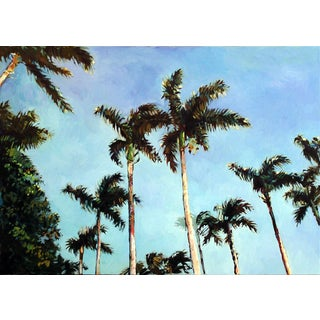 "Blair Framed Contemporary Landscape ""Four Arts Palms"" For Sale"