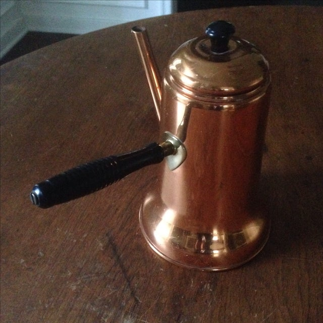 Vintage Side Handle Copper Coffee Pot For Sale In Indianapolis - Image 6 of 11