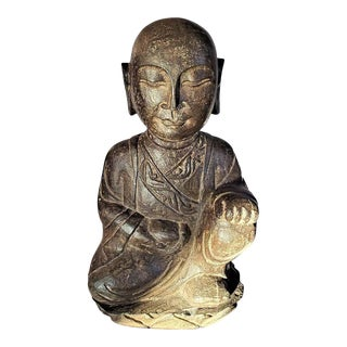 Early 20th Century Japanese Stone Carved Buddha For Sale