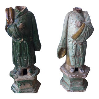 Headless Ming Dynasty Statues - A Pair For Sale